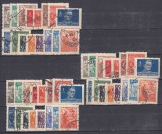 Yugoslavia Republic, Partisans Stamps Three Complete Sets 1945 Mi#470-485 Used - Gebruikt