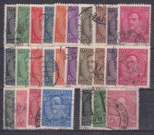 Yugoslavia Kingdom Several Sets: 1931 Mi#228-237 I And II (w. And W-out Inscription), Mi#241-242, Mi#283-284 And Pelure - 1931-1941 Königreich Jugoslawien