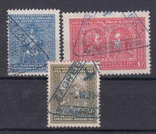 Yugoslavia Kingdom 1929 Mi#222-224 Used With Triangle Cancels - 1931-1941 Königreich Jugoslawien