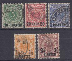 Germany Offices In Turkey 1889 Mi#6-10 Complete Set, Used - Deutsche Post In Der Türkei