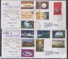 Pitcairn Islands 1969 Definitive Issue 2xFDCs - Pitcairn
