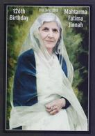 PAKISTAN POST CARD - 126th BIRTHDAY Of Mohtarma Fatima Jinnah, 31st July 2018, POSTCARD - Historical Famous People