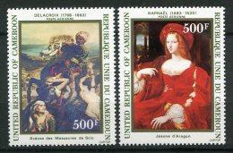 """8003 CAMEROUN  PA 319/20 ** """"Jeanne D'Aragon"""" De Raphaël , """" Scènes Des Massacres De Scio""""de Delacroix     1983    TTB - Cameroun (1960-...)"""
