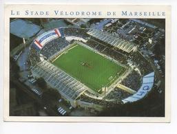 """Marseille Stade Vélodrome : Jour De Match """"allez L'OM"""" Vue Aérienne (cp Vierge) - Stadien"""