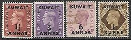 Kuwait 1948   4 Diff Used To The 1 Rupee  2016 Scott Value $7.10 - Kuwait