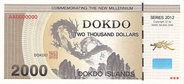 Specimen Île DOKDO Corée 2 000 Dollars 2013 UNC - Specimen
