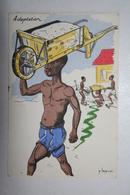 Afrique - Illustration P. Huguet - Adaptation - Cartes Postales