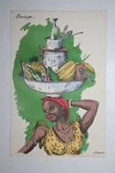 Afrique - Illustration P. Huguet - Portage - Cartes Postales