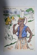 Afrique - Illustration P. Huguet - Provision De Bouche - Cartes Postales