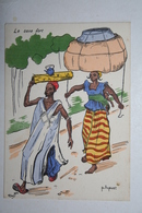 Afrique - Illustration P. Huguet - Le Sexe Fort - Cartes Postales
