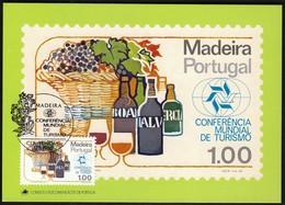 Portugal Madeira 1980 / World Tourism Conference, Manila, Philippines / Grapes, Wine / Maximum Card, MC, MK - Vacaciones & Turismo