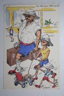 Afrique - Illustration P. Huguet - Les Nouveaux Débarqués - Cartes Postales