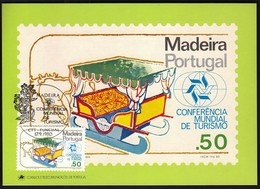Portugal Madeira 1980 / World Tourism Conference, Manila, Philippines / Ox Sled, Sledge / Maximum Card, MC, MK - Holidays & Tourism