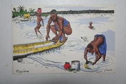 Afrique - Illustration P. Huguet - Hygiène - Cartes Postales