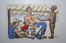 Afrique - Illustration P. Huguet - Le Boy Sonnette - Cartes Postales