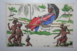 Afrique - Illustration P. Huguet - Taxi La Brousse - Cartes Postales