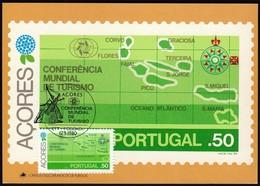 Portugal Azores, Acores 1980 / World Tourism Conference, Manila, Philippines / Maximum Card, MC, MK - Holidays & Tourism
