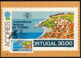 Portugal Azores, Acores 1980 / World Tourism Conference, Manila, Philippines / Windmill, Rosario / Maximum Card, MC, MK - Holidays & Tourism