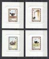 Chad Birds  Oiseaux Pajaros WWF 1996 4v DELUXE MNH - W.W.F.