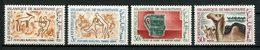 MAURITANIE 1966 N° 218/221 ** Neufs MNH Superbes C 4.50 € Tourisme Archéologie Faune Chameaux Peintures Pichet - Mauretanien (1960-...)