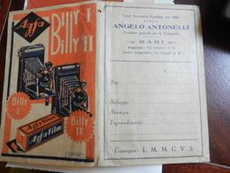 7a) BUSTA PER NEGATIVI FOTOGRAFICI AGFA BILLY  CREDO 1930 CIRCA DITTA ANGELO ANTONELLI BARI - Materiale & Accessori