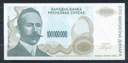 506-Bosnie-Herzegovine Billet De 100 Millions De Dinara 1993 A008 - Bosnie-Herzegovine