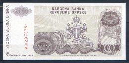 506-Bosnie-Herzegovine Billet De 500 Millions De Dinara 1993 A029 - Bosnie-Herzegovine