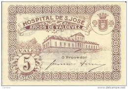 PORTUGAL -5 CENTAVOS -HOSPITAL DE S.JOSÉ -ARCOS VALDEVEZ -SEE PHOTOS - NEW - Portugal