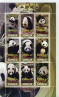 Somalia 2010 M/S Cinderella Issue Stamps China Panda Wild Animals Fauna Mammal Big Cat Nature Animal Pandas MNH Perf - Somalia (1960-...)