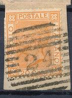 ITALY - Regno 1867 - Vittorio Eman II - 20 Cent  Fancy Cancel Numeral Used Lot#32 - 1861-78 Vittorio Emanuele II
