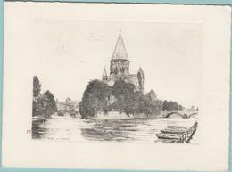 CPM:  METZ   (Dpt.57):   Le Temple (lithographie)     (E735) - Metz