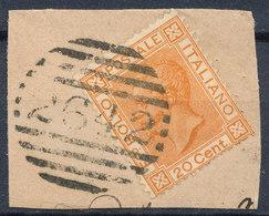 ITALY - Regno 1867 - Vittorio Eman II - 20 Cent  Fancy Cancel Numeral Used Lot#45 - 1861-78 Vittorio Emanuele II