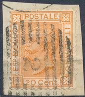 ITALY - Regno 1867 - Vittorio Eman II - 20 Cent  Fancy Cancel Numeral Used Lot#50 - 1861-78 Vittorio Emanuele II