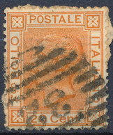 ITALY - Regno 1867 - Vittorio Eman II - 20 Cent  Fancy Cancel Numeral Used Lot#68 - Used