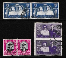 SOUTH AFRICA UNION 1947 Used Pair Stamps Royal Visit Nrs. 181-186 - South Africa (...-1961)