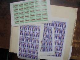 BELGIQUE BEAU LOT EN FEUILLES ET PARTIES DE FEUILLES (2186) 1 KILO 300 - Collections