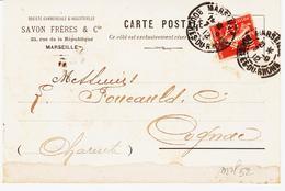 France , De Marseille En 1912, Perforé SF  Et Daguin Jumelé   Cognac TB - Perfins