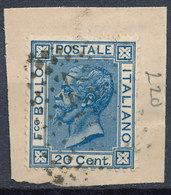 ITALY - Regno 1867 - Vittorio Eman II - 20 Cent  Fancy Cancel Numeral Used Lot#84 - Used