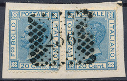 ITALY - Regno 1867 - Vittorio Eman II - 20 Cent  Fancy Cancel Numeral Used Lot#87 - Used