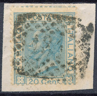 ITALY - Regno 1867 - Vittorio Eman II - 20 Cent  Fancy Cancel Numeral Used Lot#88 - Used
