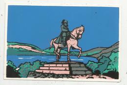 Cp , Velours , Statue De NAPOLEON , Vierge , Ed. Soven - Cartes Postales
