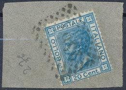 ITALY - Regno 1867 - Vittorio Eman II - 20 Cent  Fancy Cancel Numeral Used Lot#102 - 1861-78 Vittorio Emanuele II