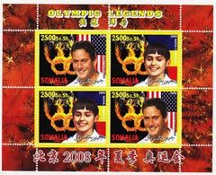 Somalia 2008 M/S Cinderella Issue Stamps China BeiJing Summer Olympic Games Sports Legends Athletes People MNH (1) Perf - Summer 2008: Beijing