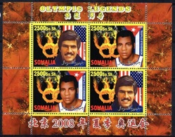 Somalia 2008 M/S Cinderella Issue Stamps China BeiJing Summer Olympic Games Sports Legends Athletes People MNH (2) Perf - Summer 2008: Beijing