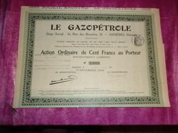 LE GAZOPETROLE (1912) ASNIERES - Shareholdings