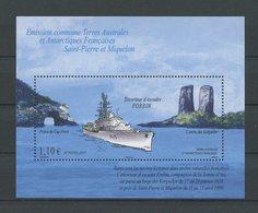 TAAF 2011 Bloc N° 26 ** ( 597 ) Neuf MNH Superbe C 4,40 € Bateaux Boats Ships Escorteur Forbin Transport Arche Kerguelen - Blokken & Velletjes