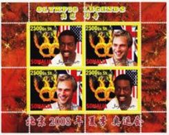 Somalia 2008 M/S Cinderella Issue Stamps China BeiJing Summer Olympic Games Sports Legends Athletes People MNH (3) Perf - Summer 2008: Beijing
