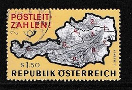 AUSTRIA 1966 Used Stamp(s) Post-code Map Nr. 1201 - 1945-.... 2nd Republic