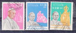 Ecuador 1966 Mi Nr  1242 - 1244 Paus Paul VI - Ecuador