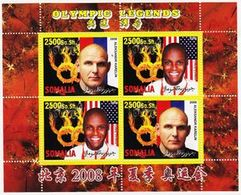 Somalia 2008 M/S Cinderella Issue Stamps China BeiJing Summer Olympic Games Sports Legends Athletes People MNH (4) Perf - Summer 2008: Beijing